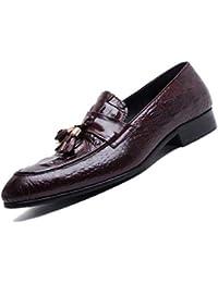 bfa2d8ea44d81 Ligero Cuatro Estaciones Marrón Negro Zapatos De Negocios para Hombres Sin  Cierre Manejo Todos Los Días