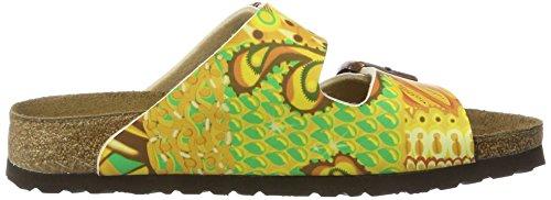 Papillio Damen Arizona Birko-Flor Pantoletten Mehrfarbig (African Wax Gold)