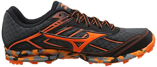 Mizuno Wave Rider 20 Jr, Chaussures de Running Compétition Homme Noir (Dark Shadow/clownfish/black)
