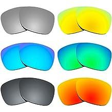 Revant Combo de 6 pares de lentes polarizados, de reemplazo, para Ray Ban Justin 54mm RB4165 K025