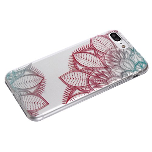 iPhone 7 Plus Totem Case, Per Apple iPhone 7 Plus Cover Silicone, Asnlove Custodia Crystal Case 3D Flessible TPU Silicone Lucida Trasparente Bumper Gomma Caso Stilosa Custodia di Design in Morbido TPU Color6