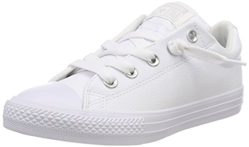 Converse Unisex-Kinder CTAS Street Slip White Fitnessschuhe, Weiß 100, 31 EU Converse Kids All Star Slip