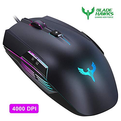 Foto Gaming Mouse, BLADE HAWKS Mouse da Gioco Regolazione RGB con 8 Pulsanti...