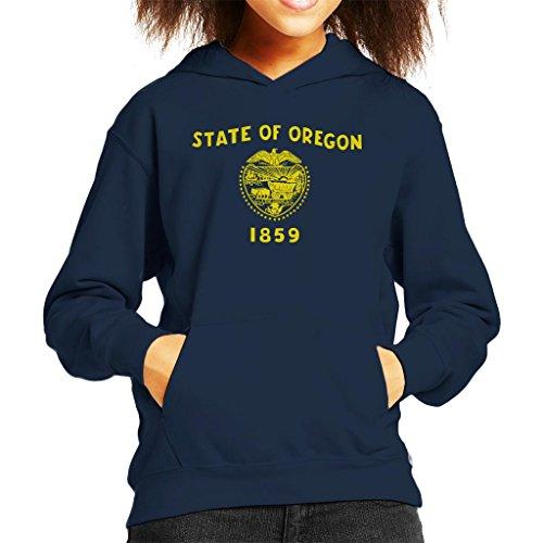 Oregon State Flag Kid's Hooded Sweatshirt