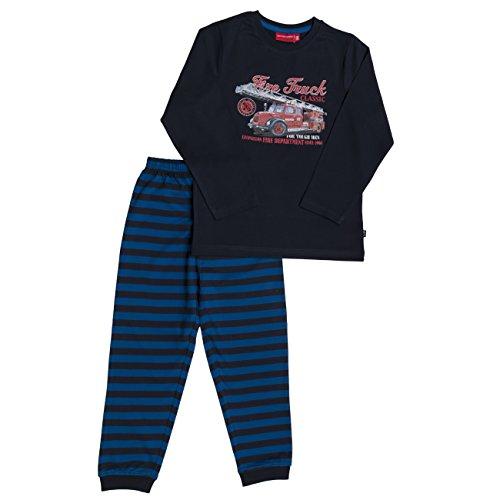 SALT AND PEPPER Jungen Zweiteiliger Schlafanzug Pyjama-Paket Feuerwehr, Deep Cobalt