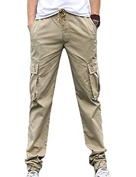 Sentao Pantalones De Cargo Hombre Deporte Chinos Pantalon Casual Pantalones Respirable