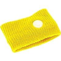 QWhing Creative Nausea - Muñequeras de Viaje para el Coche, diseño de Enfermos, Color Amarillo