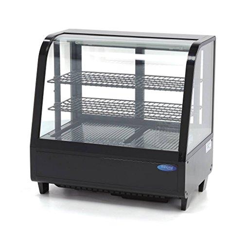 Kühlvitrine 100 L Schwarz