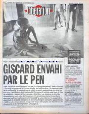 LIBERATION [No 3214] du 21/09/1991 - GISCARD ENVAHI PAR LE