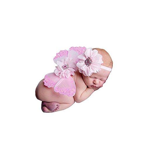 Baby-Foto Requisiten Neugeborene baby fotoshooting Fotografie Kostüm Blumen Stirnband Butterfly (Butterfly Prinzessin Kleinkind Kostüme)