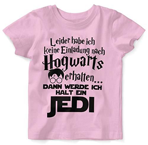 Mikalino Baby/Kinder T-Shirt mit Spruch für Jungen Mädchen Unisex Kurzarm Leider Habe ich Keine Einladung nach Hogwarts erhalten. | handbedruckt in Deutschland, Farbe:rosa, Grösse:80/86