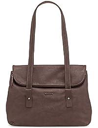 TAMARIS EMMA Handtasche, Tote Bag, Shopper, Überschlaglasche, 3 Farben: stone beige, mocca braun oder schwarz