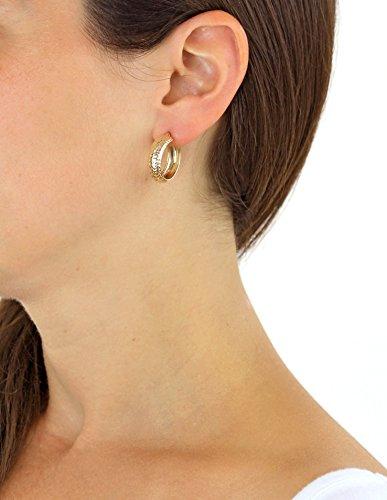 Carissima Gold - Femme - Boucles d'oreilles créoles - Or - (9 Carat) Or Jaune