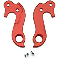 Noah And Theo NT-HD026 Mech Gear Derailleur Hanger Dropout compatible with Cube #123 or 10123 in SATIN RED incl. screw set. Also fits Lynskey and other road bikes