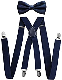 axy forma di bretelle pantaloni da uomo con papillon–4FORTE Clip X di alta qualità