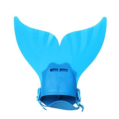 Le SSara Swim Fins Monofin Colas de sirena ajustables para nadar con aletas de buceo con aletas (B01-blue)