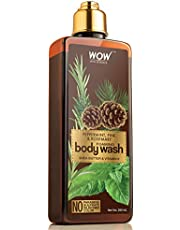 WOW Peppermint Pine & Rosemary Foaming Body Wash - No Parab