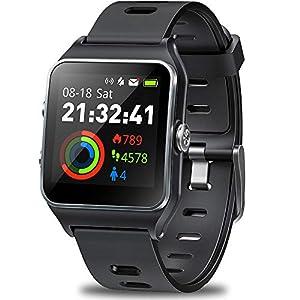 DR.VIVA Reloj GPS para Hombres y Mujeres, Rastreador de Actividad GPS Reloj