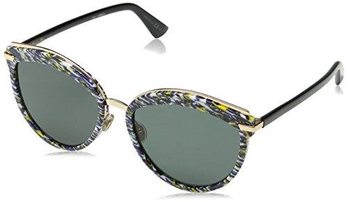 Dior Damen DIOROFFSET2 2K 9N7 Sonnenbrille, Blau (Bluette Black/Grey Ar), 57