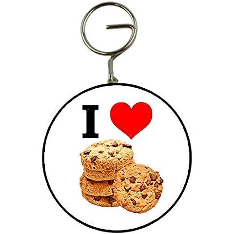 I Love Chocolate Chip Cookies portachiavi portachiavi apribottiglie a forma di regalo, 58mm