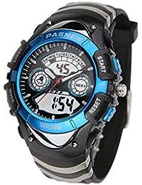 4e19fcb8e241 TD Reloj De Pulsera Masculino Tiempo De Visualización Dual Impermeable  Reloj Electronico Juvenil (Color