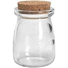 FBlue 100ML Pequeña Visualización Clara Frascos de Vidrio de la Botella del Deseo envase Vial con