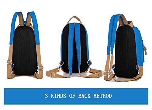 Outdoor Rucksack Umhängetasche Messenger Bag Multifunktions Freizeit reisen ritt Bergsteigen Tasche Sport Tasche 5 Farben H34 x W21 x T7CM rose red