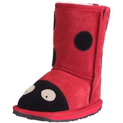 Emu LC Ladybird, Mädchen Halbschaft Stiefel, Rot (Red), 35 EU (2 Kinder UK)