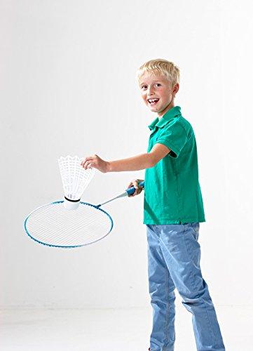 Tronico Toys GmbH XXL Riesen Badminton Set, Federball Set, Jumbo Tennis für den Garten
