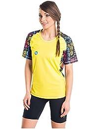 Nessi Damen T-Shirt DK Laufshirt Fitnesshirt Atmungsaktiv Yellow Dreams