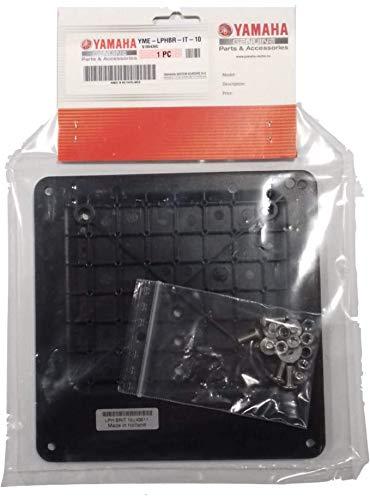 Soporte Base matrícula Yamaha para portamatrículas Deportivo Aluminio Original Refuerzo Vibraciones Porta...