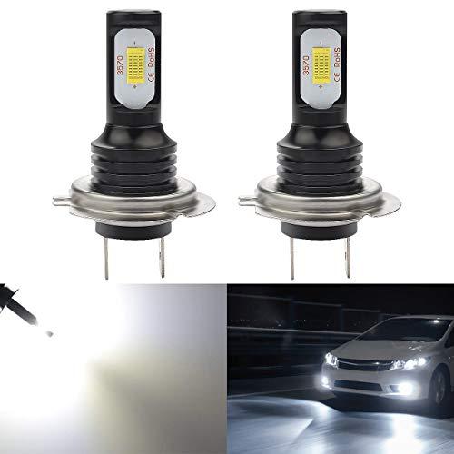 Preisvergleich Produktbild KaTur H7-Nebelscheinwerferlampen extrem hell 2400 Lumen,  max. 75 W,  hohe Leistung für Tagfahrlicht,  Tagfahrlicht oder Nebelscheinwerfer,  Xenonweiß (H7, Weiß)