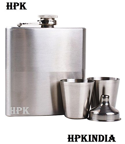 Hpk Hip Flask With 2 Glass & Funnel