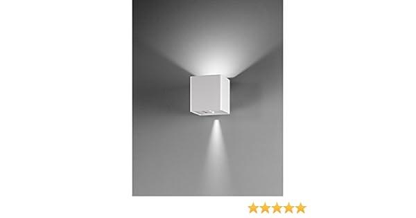 Lampada parete applique led uso esterno interno doppia luce fredda