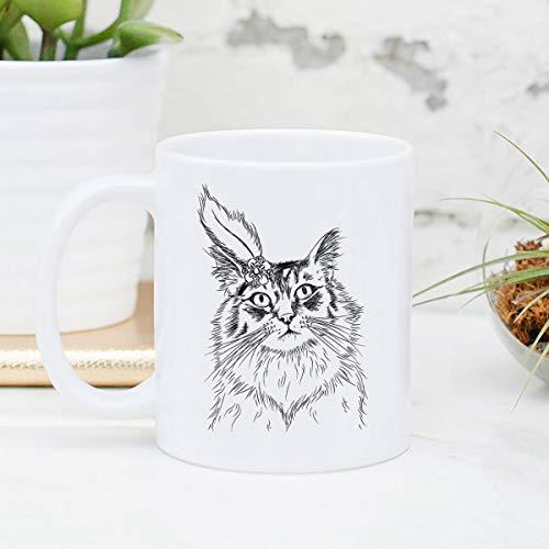 Claude6yhAly Chloe die Tabby-Katzen-Becher-Geschenke f¨¹r Katzeninhaber Tabby-Katzenliebhaber-Katzen-Kunst-Tabby-Katzengeschenk lustiges Katzen-Geschenk (Katze Die Chloe,)