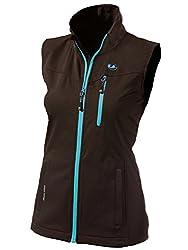 Ultrasport Damen Softshell Weste Athina Black/Turquoise XL