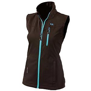 Ultrasport Advanced Damen-Funktions-Lauf-/Sport- und Outdoor-Softshellweste Athina mit Ultraflow 5.000, leicht, reflektierende Drucke, wasser- und winddicht, atmungsaktiv, Reißverschluss-Taschen