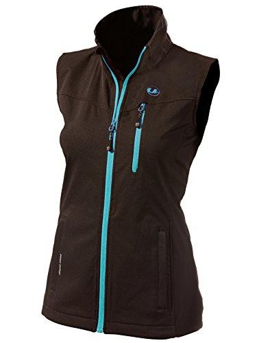 Ultrasport Damen Softshell Weste Athina Black/Turquoise, XL