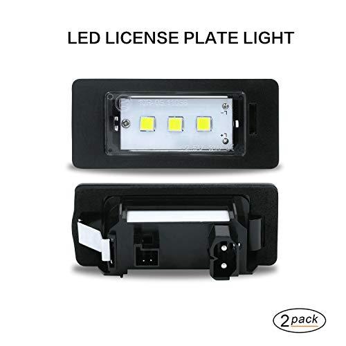 LED-Kennzeichenleuchte Gempro 2 x 3 SMD Nummernschildbeleuchtung mit eingebautem CAN-Bus und fehlerfreier wasserdichter Für E82 E88 E90 E93 E39 E60 F07 F10 F11 F18 F25 F5 X5 E70 E72 F15