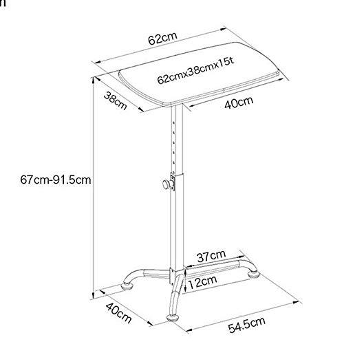 DEED Kleine Tabelle Haushalt Panel Notebook Sofa Seite Bewegliche 8 Stufen Liftable Home Kleine Schreibtisch Einfache Moderne Schlafzimmer Einfache Studie Tabelle,Kirsche Holzfarbe -