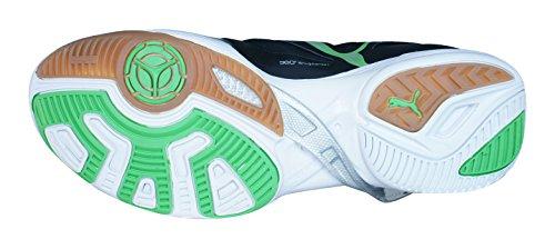 Puma Accelerate 6 10239803, Handball Homme Noir, blanc, vert, gris et gomme
