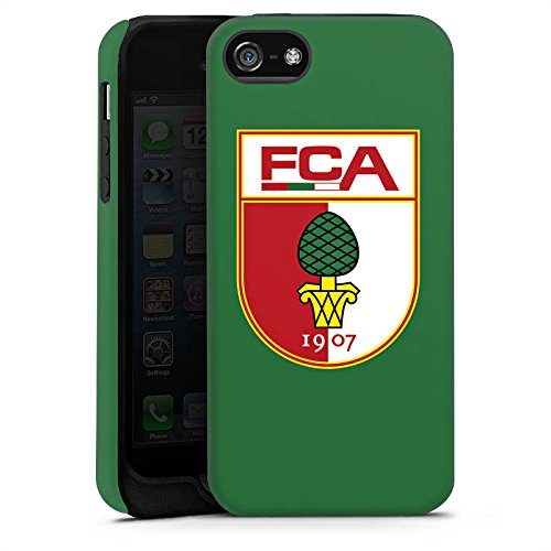 Apple iPhone X Silikon Hülle Case Schutzhülle FC Augsburg Fanartikel Fußball Tough Case matt