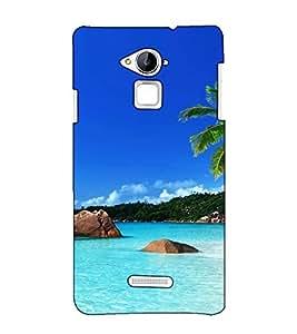 Fuson Designer Back Case Cover for CoolpadNote3 (Sea beach theme)
