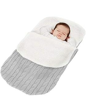 Fußsack Kinderwagen Baby Schlafsack Winter Babyschale Fußsack Strickend Baumwolle Buggy Winterfußsack