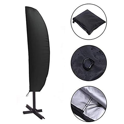 DMZY 210D Oxford Material Schutzhülle Für Gartenschirm Sonnenschirm Wasserdicht Hülle Mit Reisverschluss UV-Beständig Und Wetterfest - Schwarz 205 * 57 * 48Cm
