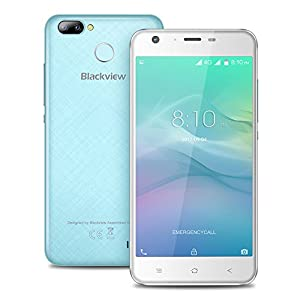 Blackview A7 Pro 4G Unlocked Smartphone 5.0inch HD Screen Android 7.0 MTK6737 Quad core 1.3GHz 2GB RAM 16GB ROM 8.0MP+0.3MP Dual Rear 5.0MP Front Camera 2800mAh Fingerprint GPS WiFi Moblilephone