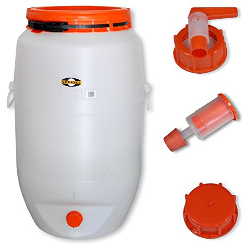 Barrel for fermentation SPEIDEL - Fermenter 120 L round + 1 airlock + 1 tap + 1 cap (22150+137+139+140) by Speidel