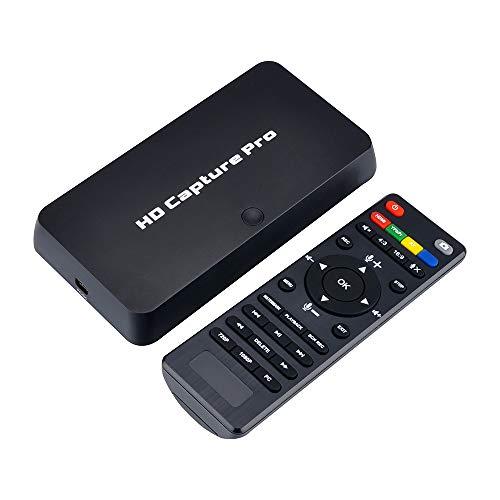 Docooler ezcap295 HD Video Capture Pro 1080P Recorder USB 2.0 Wiedergabe Capture-Karten mit Fernbedienung Hardware H.264 Encoding für Xbox 360 Xbox One PS4 Set-Top-Box EU-Stecker weiß Digital-video-capture-gerät