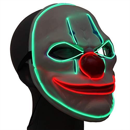 Ucult Leuchtende Clown Maske Karneval Fasching & ()