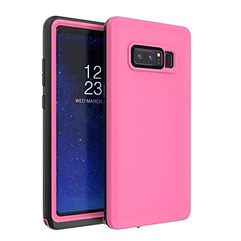 Omiky® Für Samsung Galaxy Note 8 Wasserdichtes Gehäuse Snowproof schmutzabweisend Shockproof (Rosa)